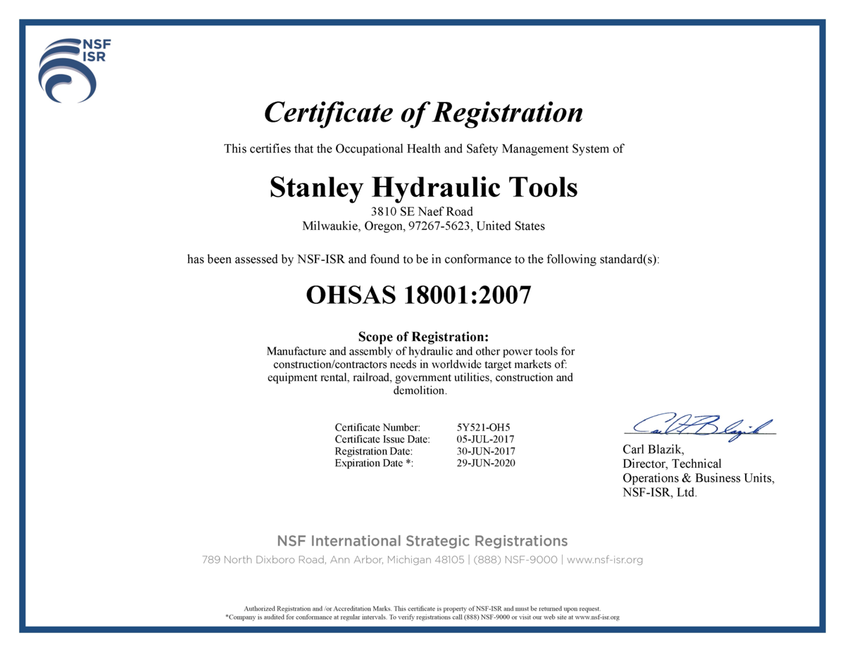 Approval compliance certifications stanley infrastructure stanley hydraulic tools complies with the following click on image to download the document xflitez Gallery